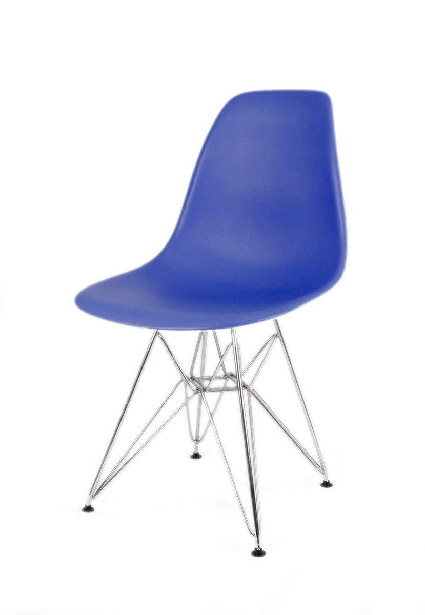 Sk design kr012 dunkelblau2 stuhl chrome indigo metall for Design stuhl hersteller
