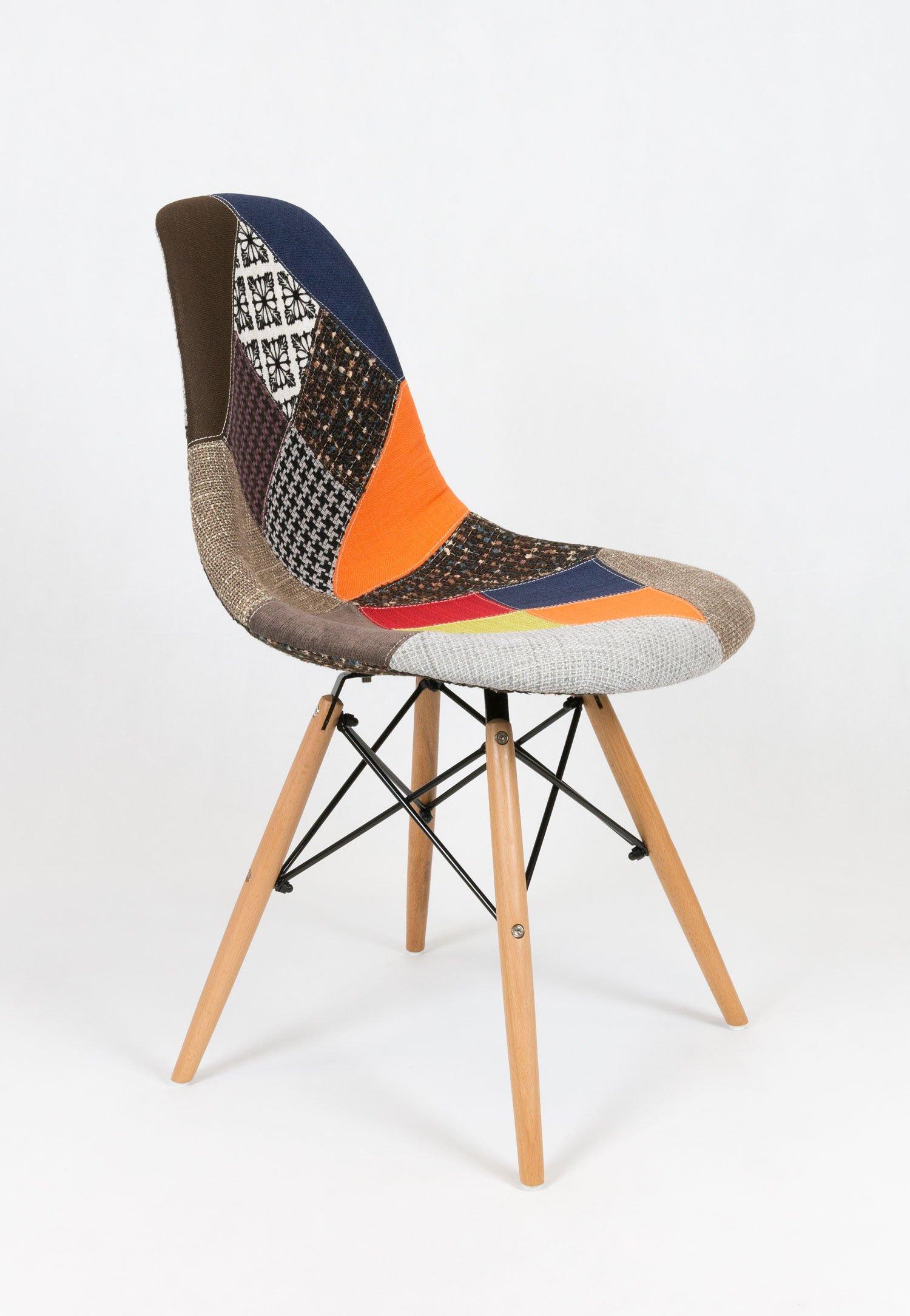 sk design kr012 gepolsterter stuhl patchwork 3 buche pat3 holz buche angebot krzes a. Black Bedroom Furniture Sets. Home Design Ideas