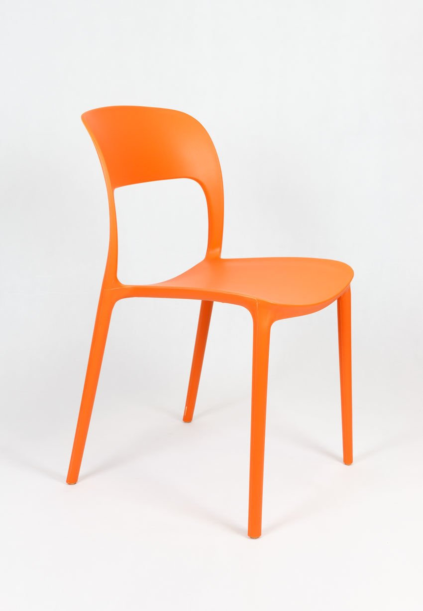 Sk design kr022 orange stuhl aus polypropylen orange for Design stuhl farbig