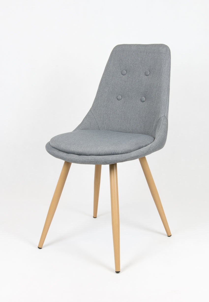 sk design kr051 grau stuhl mit kissen grau angebot st hle farbe grau angebot st hle. Black Bedroom Furniture Sets. Home Design Ideas