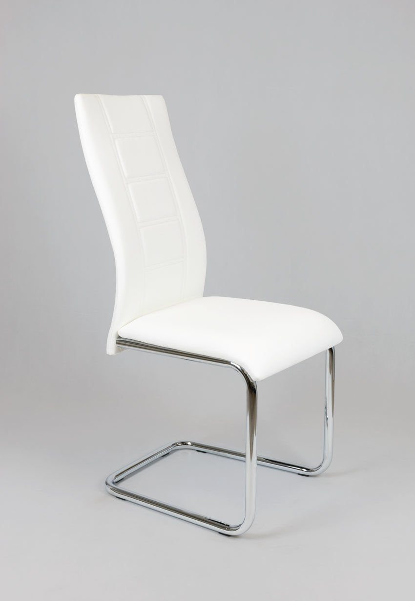 sk design ks029 weiss kunsleder stuhl mit chromgestell weiss angebot st hle farbe weiss. Black Bedroom Furniture Sets. Home Design Ideas