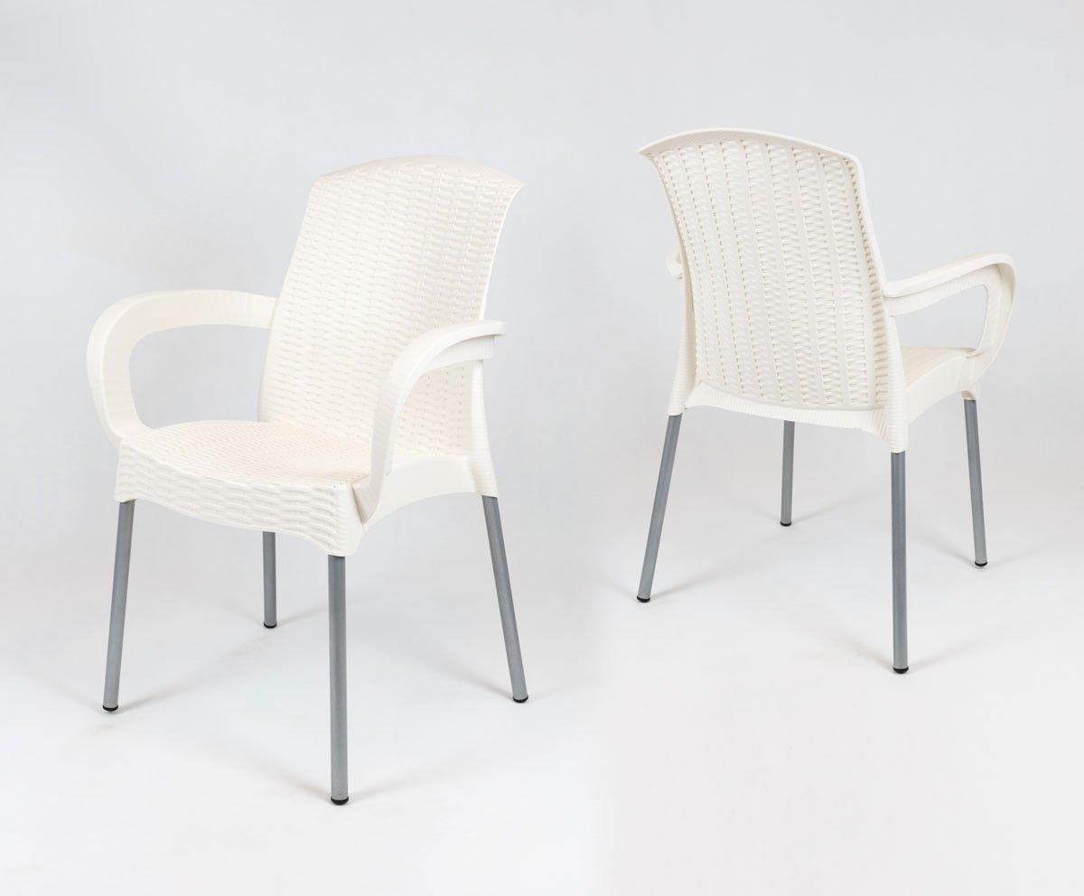 Sk design kr040 cream polypropylene chair offer chairs for The garden design sk