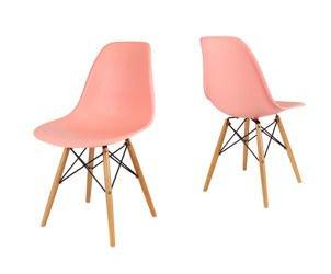 SK Design KR012 Light Pink Chair Beech legs