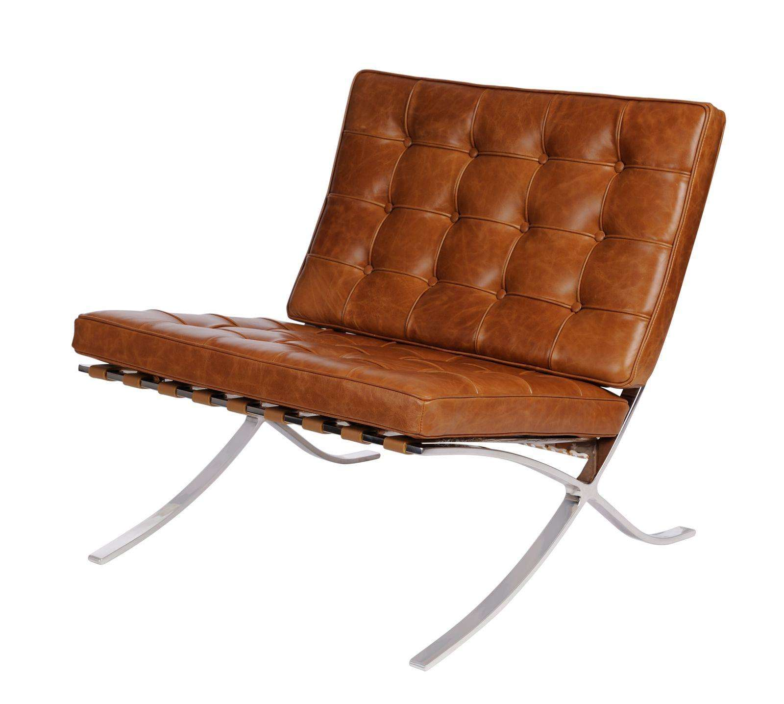 BA1 armchair brown bright vintage Brown \ Metal || Skóra ...