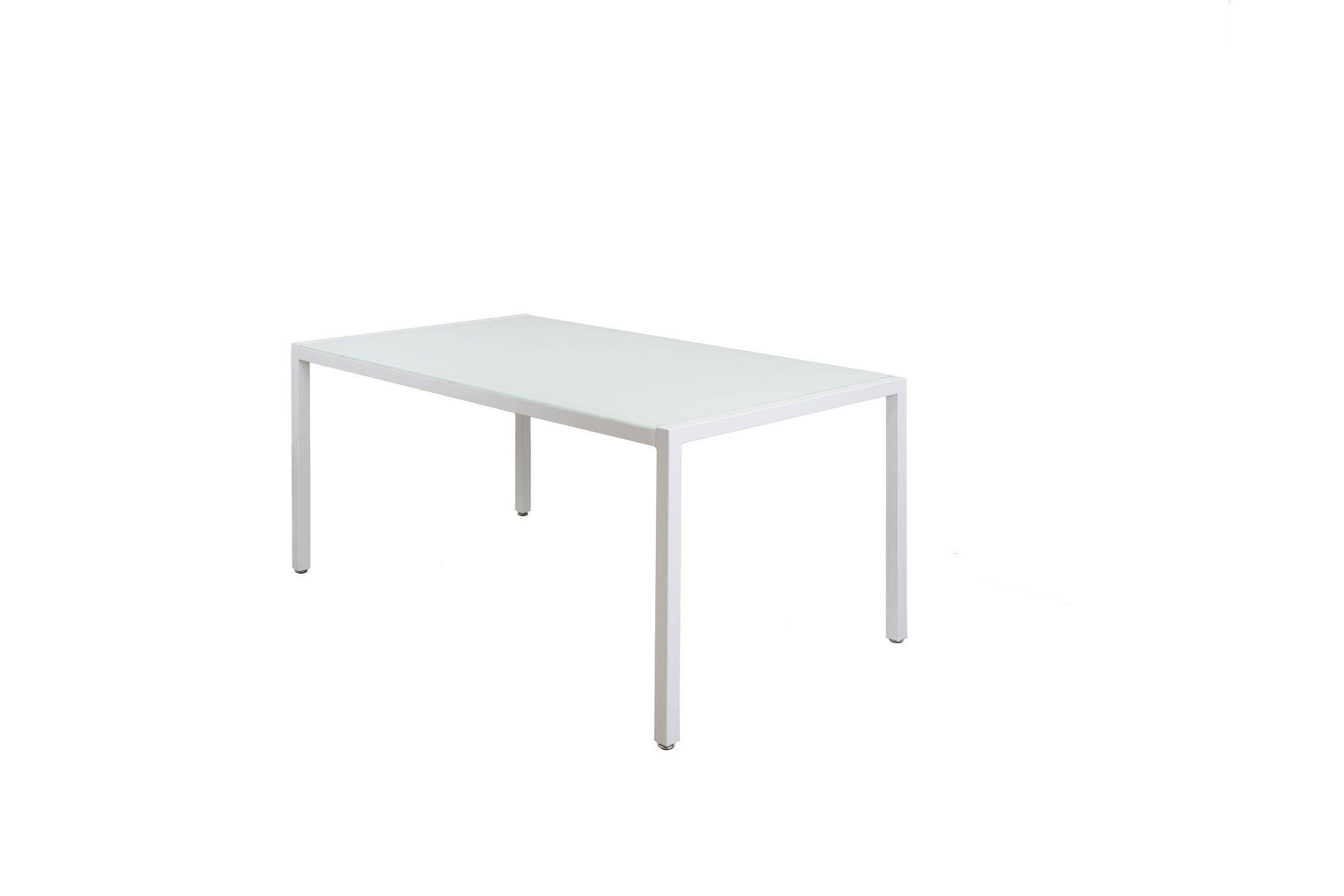Sk Design St11 White Glass Table 160 X 90 Cm White Offer
