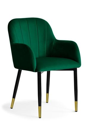 TULIP chair green / black leg gold / BL78