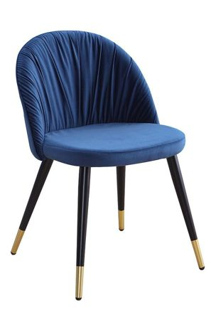 Chair MONZA maritime velvet / black-gold leg