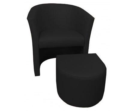 Black CAMPARI armchair with footrest