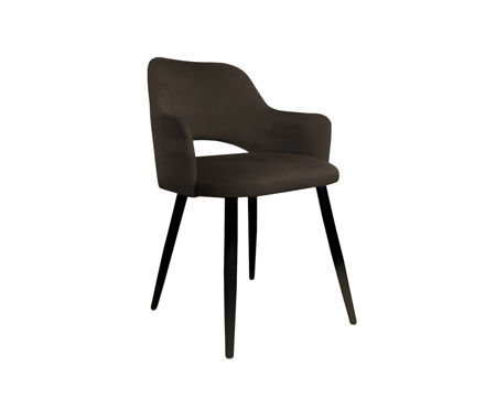 Brown upholstered STAR chair material MG-05