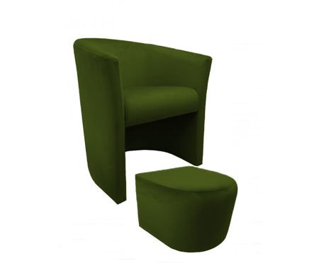 CAMPARI armchair with footrest Bluvel 75