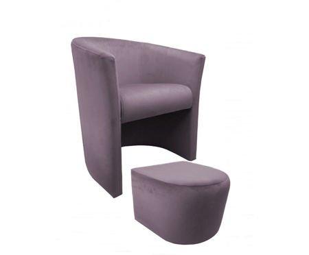 CAMPARI armchair with footrest Magic Velvet 55