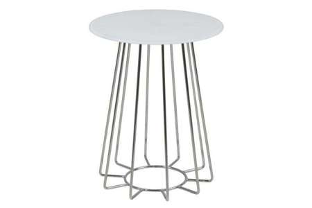 Casia table with crystal chrome base table top