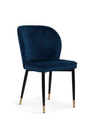 Chair AINE navy / black leg-gold / BL86