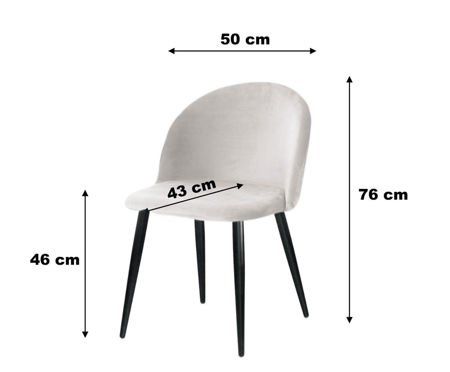 Chair KALIPSO black material BL-19