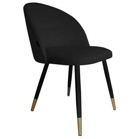 Chair KALIPSO black material MG-19 with golden leg