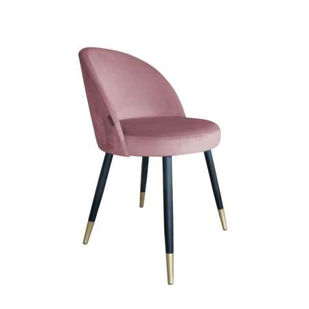 Coral upholstered CENTAUR chair material MG-58 with golden leg