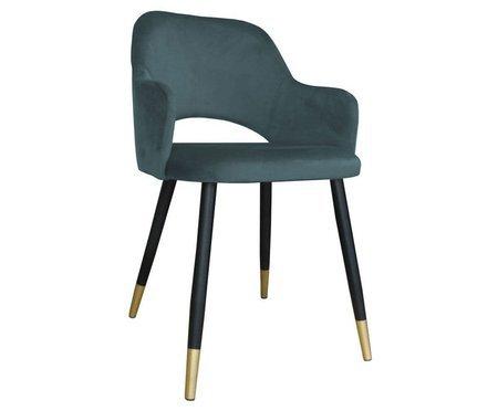 Dark gray upholstered STAR chair material BL-14 with golden leg