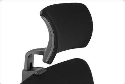 Fotel obrotowy TINOS Czarny/Aluminium
