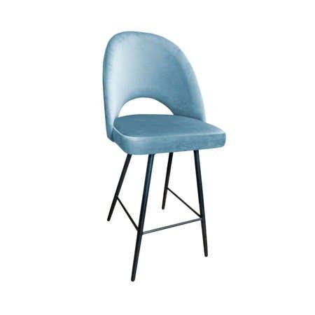 Gray-blue upholstered LUNA hoker material BL-06