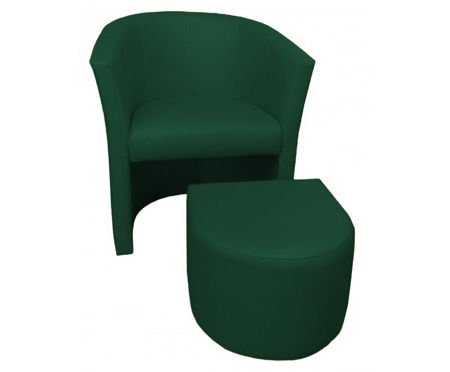 Green CAMPARI armchair with footrest