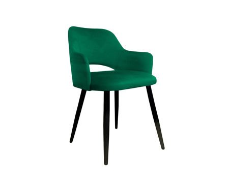Green upholstered STAR chair material MG-25