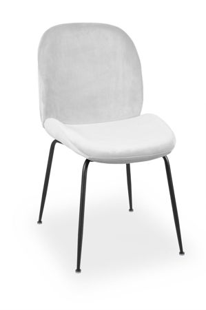 JOY velvet chair / black leg
