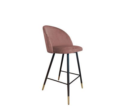 KALIPSO bar stool coral material MG-58 with golden leg