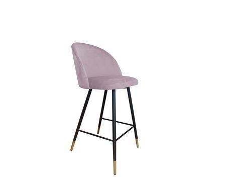 KALIPSO bar stool pink material MG-55 with golden leg