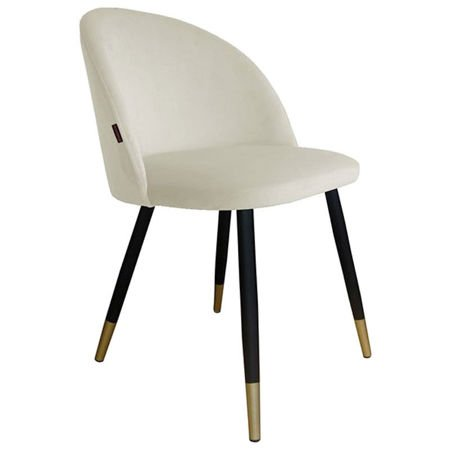 KALIPSO chair in ivory color material MG-50 with golden leg