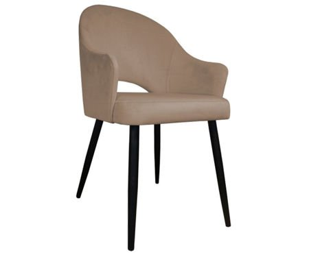 Light brown upholstered chair DIUNA material MG-06