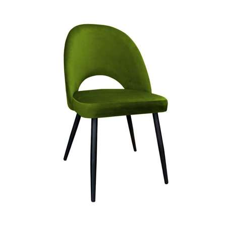 Olive upholstered LUNA chair material BL-75