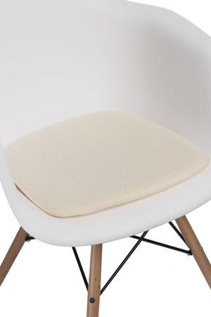 Poduszka na krzesło KR012F kremowa