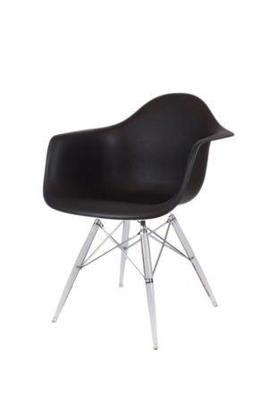 SK DESIGN KR012F BLACK ARMCHAIR CLEAR