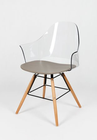 SK DESIGN KR012F F2 CL/P CLEAR ARMCHAIR GHOST