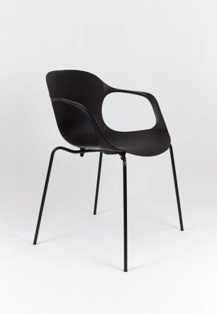 SK Design KR018 Black Chair on Metal Frame
