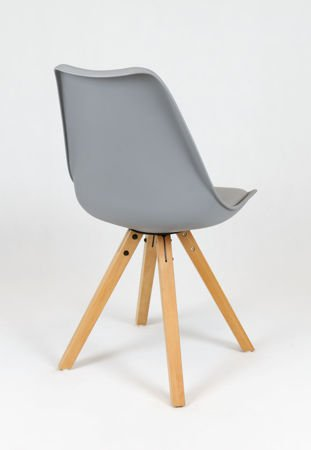SK Design KR020A Grey Chair with Polypropylene and Cushion