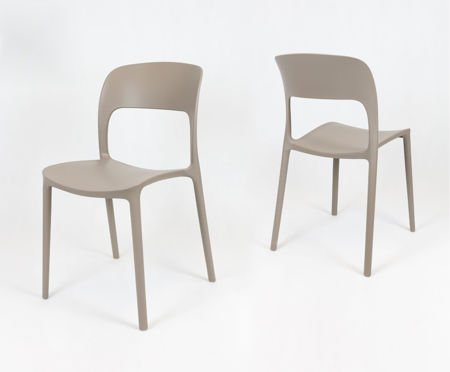SK DESIGN KR022 MILD GREY POLYPROPYLENE CHAIR UFO