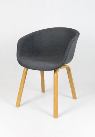 SK DESIGN KR049 GREY CHAIR + CUSHION SEAT