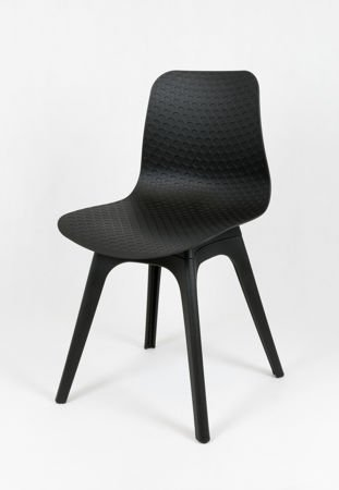 SK DESIGN KR061 BLACK POLYPROPYLENE CHAIR