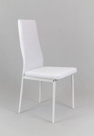 SK Design KS001 White Synthetic Leather Chair, White rack