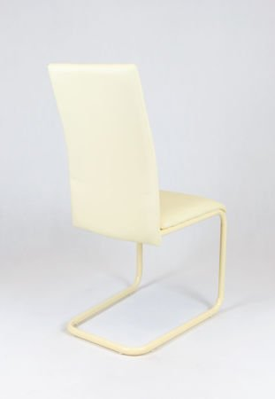 SK DESIGN KS024 CREAM SYNTHETIC LETHER CHAIR