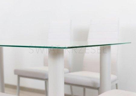 SK DESIGN ST10 WHITE GLASS TABLE 140 x 75 cm