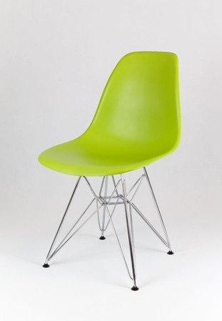 SK Design KR012 Aquamarine Chair, Chrome legs