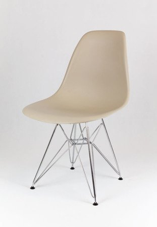 SK Design KR012 Beige Chair Chrome