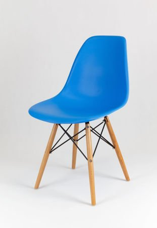 SK Design KR012 Blue Chair, Beech legs