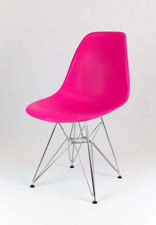 SK Design KR012 Dark Pink Chair Chrome
