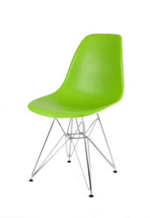 SK Design KR012 Green Chair, Chrome legs