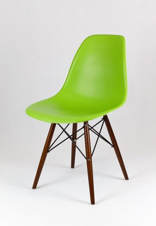 SK Design KR012 Green Chair, Wenge legs