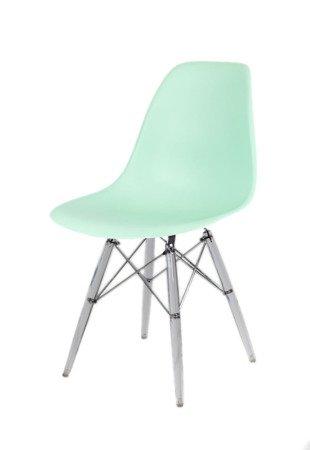 SK Design KR012 Light Green Chair, Clear legs