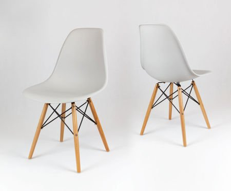 SK Design KR012 Light Grey Chair Beech